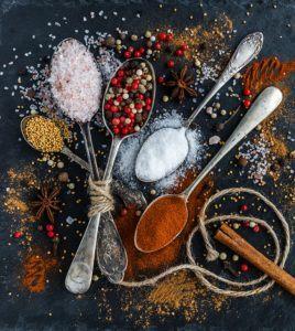 Krydderier giver god smag